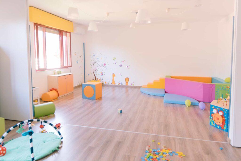 area giochi interno - asilo nido - ludoteca - aiuto compiti - nasinsù - modica